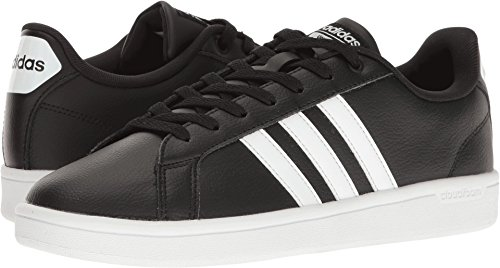 adidas Women's Shoes | Cloudfoam Advantage Sneakers, Black/White/Black, (8 M US) (Sneakers Adidas Black)