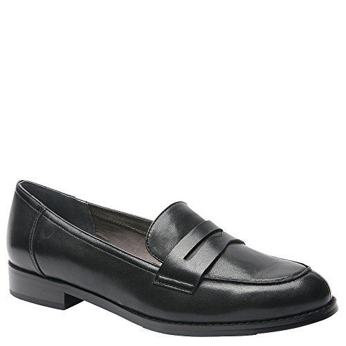 Ros Hommerson Women's Delta Fashion Loafers, Black, Leather, Foam, Rubber, 10.5 W
