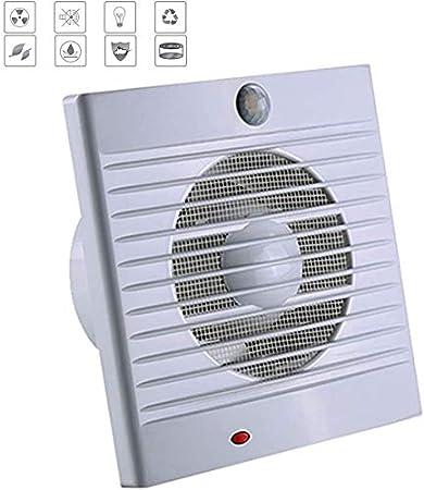 SAIYI 150 mm silencioso silencioso baño Extractor con Temporizador y PIR Detector de Baja energía - Volumen de Aire: 320m³ / h - 18W