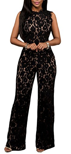 made2envy Lace Illusion Cutout Jumpsuit