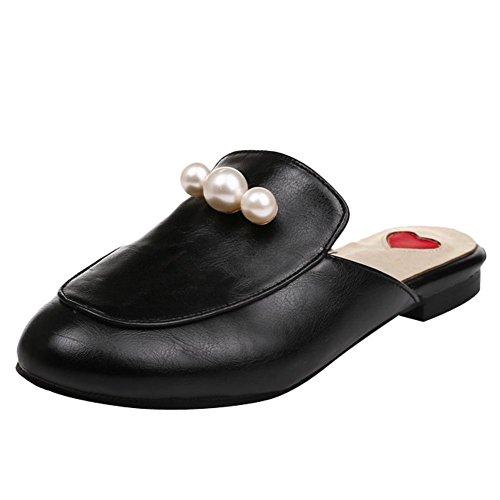 MissSaSa Donna Scarpe col Senza Tacco Pantofole (34, nero)