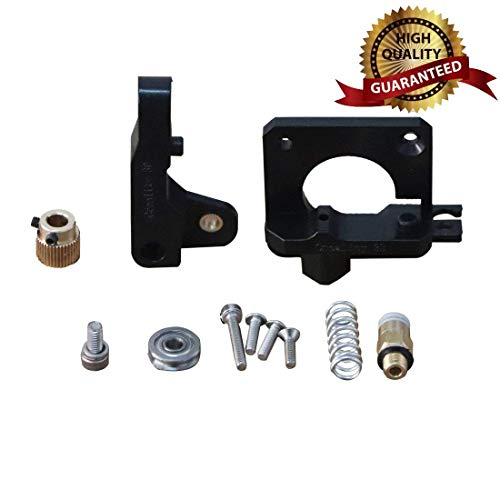 Extruder Drive Feed Black DIY Kit Injection Model 3D Printer Accessories for Reprap i3 3D Printer for CR-10 CR-10S Extruder Drive Feed Exturder Kit Extruder - Dual Idler Gear Drive