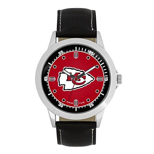 NFL Kansas City Chiefs Mens Player Series Wrist Watch, Silver, One -