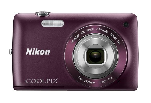 [Nikon COOLPIX S4300 16 MP Digital Camera with 6x Zoom NIKKOR Glass Lens and 3-inch Touchscreen LCD (Plum)] (Nikon Coolpix Plum)