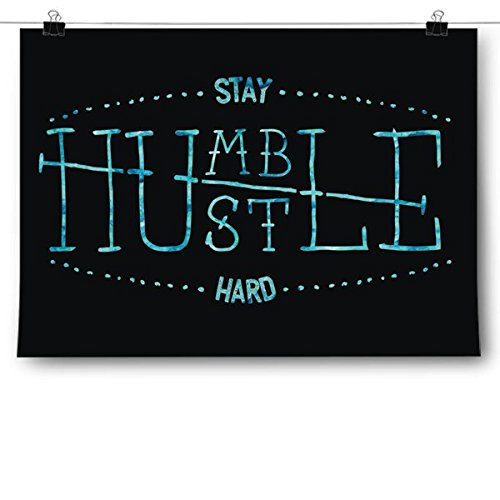 Inspired Posters Stay Humble Hustle Hard Poster Size 18x24