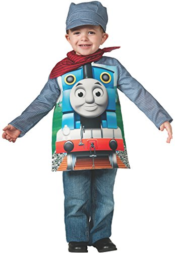 Rubies Thomas and Friends, Deluxe Thomas the Tank Engine and Engineer Costume, Toddler - Toddler One Color (Outfit Train Thomas)