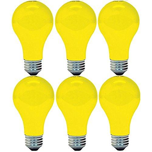 GE Lighting 97495 Bug Lite A19 Bulb, 60-Watt, 6-Pack