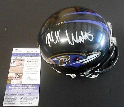 Maxx Williams Signed Baltimore Ravens Mini Helmet w/JSA COA Signature Debut (Baltimore Signature Helmet)