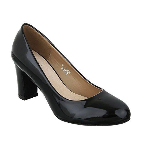 Klassische Damen Pumps Stilettos Abend Schuhe Party Hochzeit Kay Schwarz