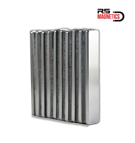 RS Magnetics   Strong Neodymium Bar Magnets   Powerful & Thin Rare Earth N52 Magnet   Small 60mm x 10mm x 3mm Magnets   10 Pack by RS Magnetics (Image #6)