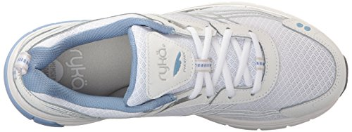 Ryka Women's Phoenix Running Shoe, White/Silver, 7.5 M US by Ryka (Image #8)