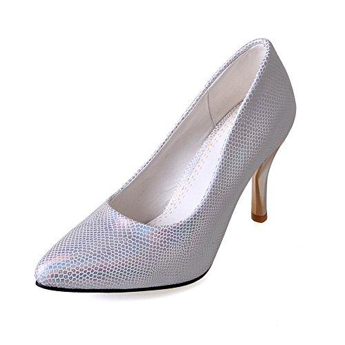 Balamasa Girls Modello Pitone Punta-punta In Morbido Materiale Pumps-shoes Argento