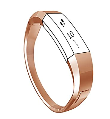 "Metal Bracelet Bands for Fitbit Alta,Unique Exclusive Replacement Accessory Jewelry Bangle Watch Wrist Bands for Fitbit Alta Tracker/Fitbit Alta Bands,One-Size(6""-6.9"")"