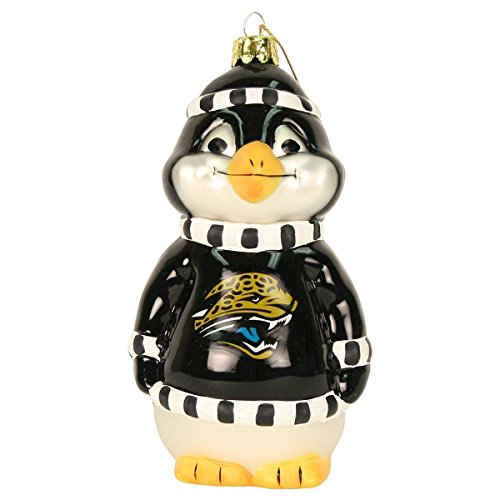 NFL Penguin Blown Glass Ornament (Jacksonville Jaguars)