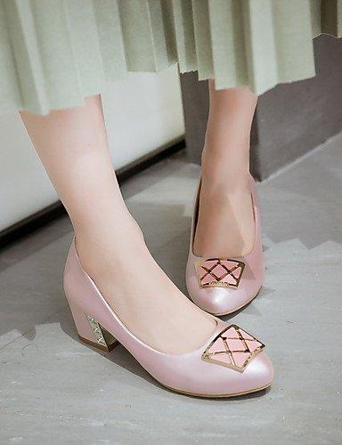 Blanco Zapatos Casual Tac¨®n Robusto white cn43 uk8 PU Rosa us10 5 pink Confort uk8 Trabajo pink 5 5 cn43 Oficina Puntiagudos mujer 5 Tacones de eu42 y cn34 us10 eu35 ZQ Azul uk3 eu42 us5 ZtPdZ