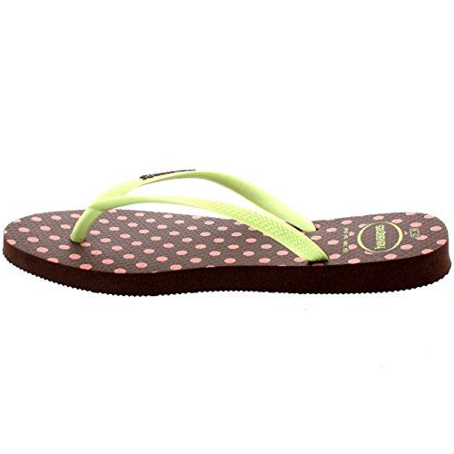 Damen Haviannas Slim Fresh Pop Up Strand Urlaub Flip Flops Sandalen Weiß