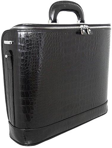 Pratesi Unisex Personalized Custom Initials Embossing Italian Leather Raffaello King Croco 15
