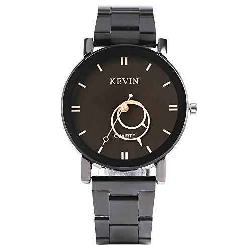 Kevin Men's Watch, New Design Watches for Men Women Women, Round Dial Stainless Steel Band Quartz Wrist Watch ()