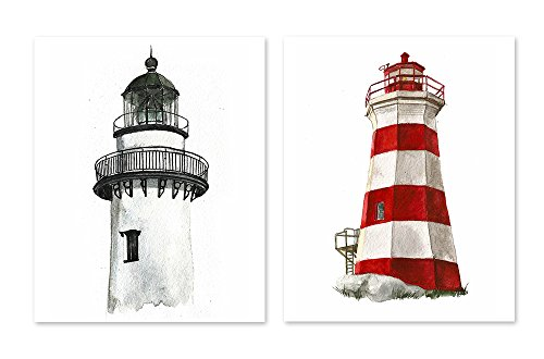 Lighthouse Wall Art Decor #A133 - Set of