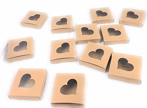 One Dozen Small Boxes with Heart Cellophane Cut Out (Gift Dozen Cookie)