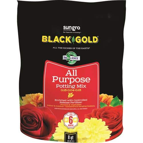 Black Gold 1310102 8-Quart All Purpose Potting Soil With Control