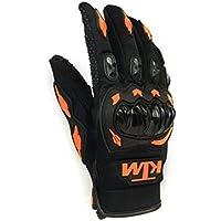 KTM Moto Biker Hand Gloves for Riding Bikes/Motorcycles/Cycles - (Orange, Large)