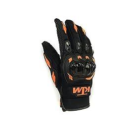 KTM Moto Biker Hand Gloves for Riding Bikes/Motorcycles/Cycles (Orange, Large)