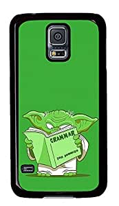Samsung Galaxy S5 Little Green Monster Reading PC Custom Samsung Galaxy S5 Case Cover Black