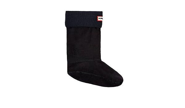 Hunter Calcetines cortos para bota de punto bobo UAS3043AAM / NEGRO - Calcetines de forro polar para botas de agua, color negro, L: Amazon.es: Zapatos y ...