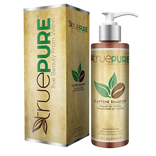 TruePure Natural Caffeine Shampoo | Fragrance Free & Sulfate Free Treatment For Healthy Hair Growth & Hair Loss Prevention | DHT Blocking Formula For Men & Women With Normal To Thin Looking Hair, 8oz ()