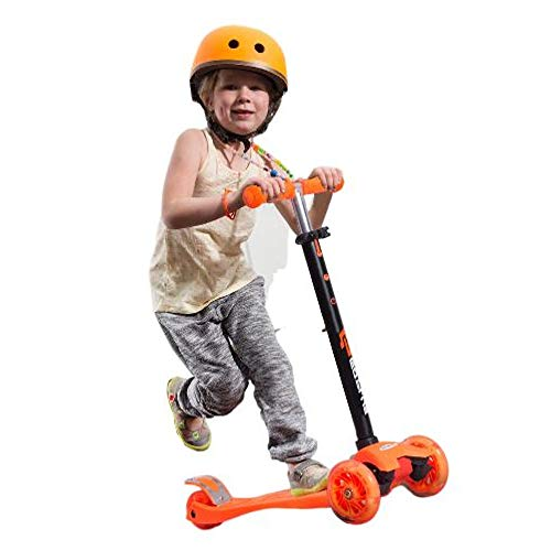 GT Toddler Kick Scooter 3 Wheel Orange Lighting Wheels Large Lightweight Led Wheels Scooter & Ebook Easy2Find. by GT