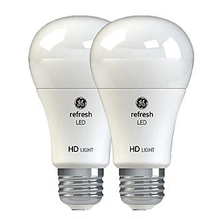 GE Lighting Refresh LED HD 10.5-watt (60-watt Replacement), 800-Lumen A19 Light Bulb with Medium Base, Daylight, 2-Pack