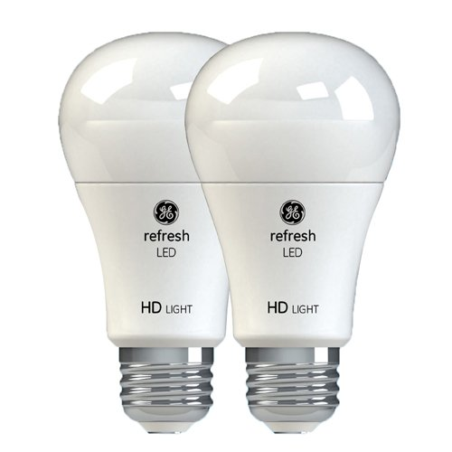 GE Lighting Refresh LED HD 17-watt (100-watt Replacement), 1600-Lumen A21 Light Bulb with Medium Base, Daylight, 2-Pack