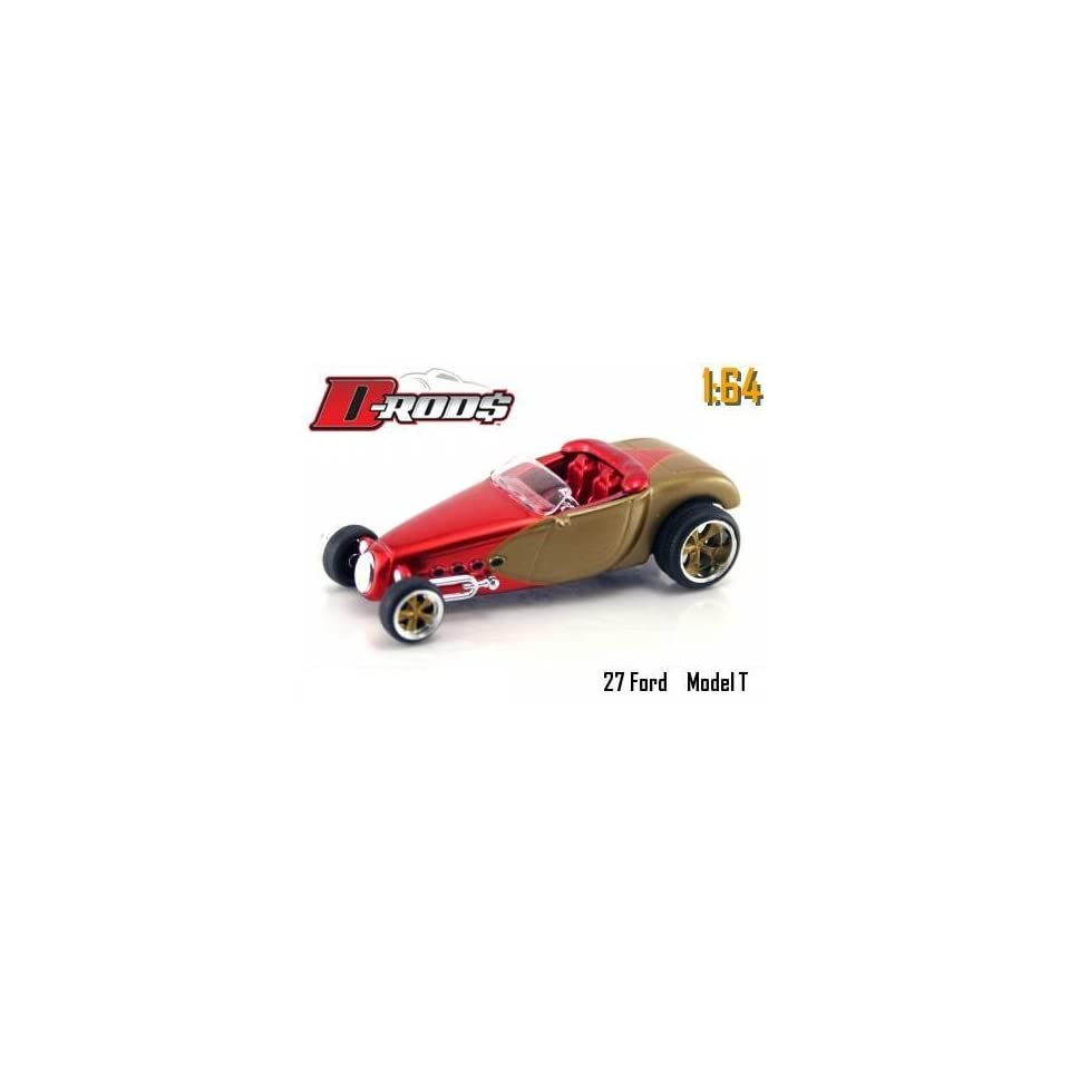 Jada Dub City D Rods Red & Champagne 1927 Ford Model T 164 Scale Die Cast Car