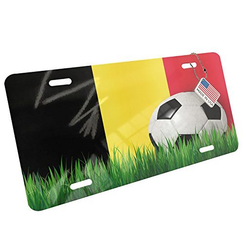 Metal License Plate Soccer Team Flag Belgium - Neonblond by NEONBLOND