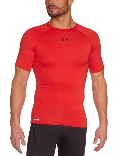 Under Armour Men's 1236224-600S HeatGear Sonic Compression T-Shirt, Red/Black, S