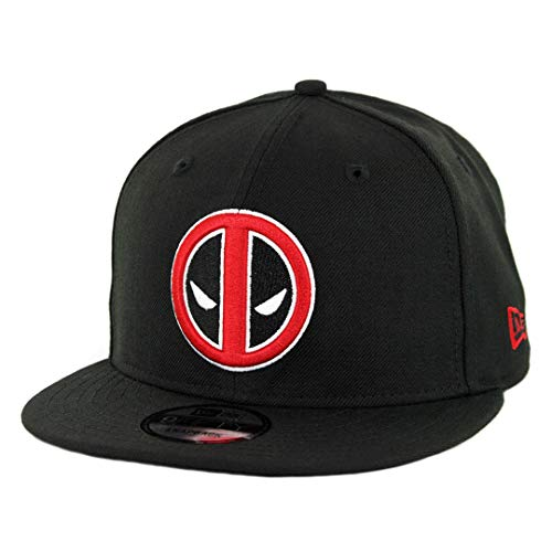 New Era 9FIFTY Deadpool Snapback Hat (Black) Men's Marvel Superheroe Cap