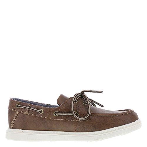 Image of SmartFit Medium Tan Boys' Bently Boat Shoes 5 Regular