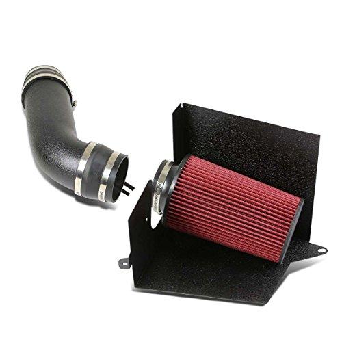 GMT400 5.0/5.7 Black Cold Air Intake Pipe+Heat Shield+Red Filter (Denali Air Intake System)