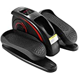 langomke Desk Elliptical Trainer Machine, Electric Mini Cycle Stepper Portable Pedal Exerciser with 5 Levels Adjustable Speed, Built in Display Monitor