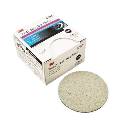 3M 02087 Trizact Hookit 3'' P3000 Grit Foam Disc