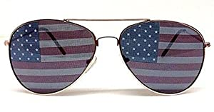 Shaderz Aviator USA America American Flag Sunglasses - Great Accesory for 4th of July