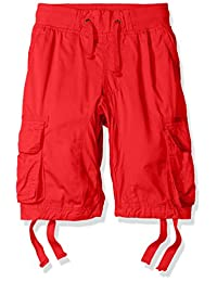 Southpole boys Big Boys Jogger Shorts With Cargo Pockets in Basic Solid Colors