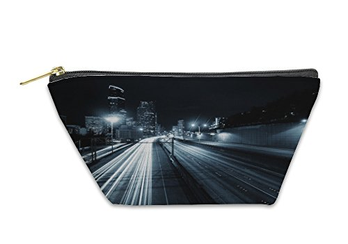 Gear New Accessory Zipper Pouch, Traffic On Road And Buildings In Downtown Of Seattle, Small, - Stores Downtown Seattle