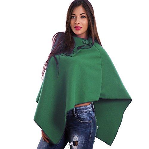 Toocool - Poncho - para mujer Verde