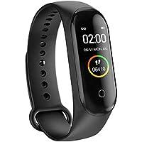 Mi Band M4 Orologio Fitness Tracker Uomo Donna Smart Watch Cardiofrequenzimetro da Polso Contapassi Smartband Sportivo Activity Tracker,Nero