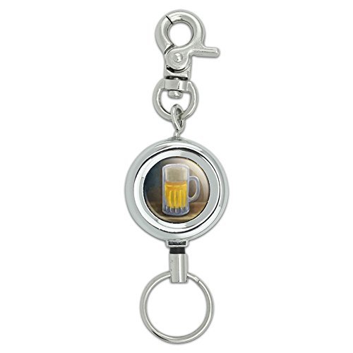 German Beer Mug Lanyard Belt ID Badge Key Retractable Reel (Beer Lanyard)