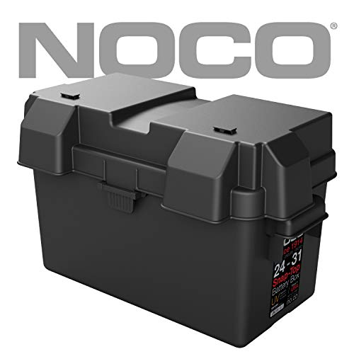 NOCO Black HM318BKS Group 24-31 Snap-Top Box for Automotive, Marine, and RV Batteries ()