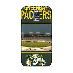 Shockproof Hard Phone Cover For Samsung Galaxy S5 With Unique Design Realistic Green Bay Packers Pictures Customcases88