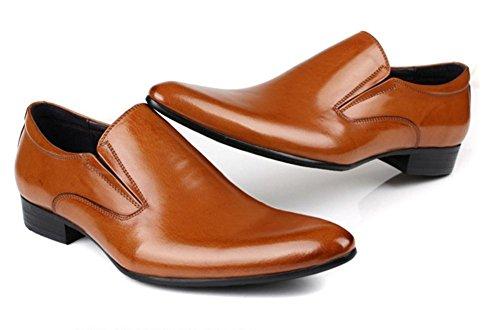 Hombres Negocio Cuero Vestir Soltero Zapatos Formal marrón Negro Boda Punta puntiaguda Oxfords británico Estilo Plano tamaño 37-45 yellow